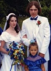 80s wedding photo
